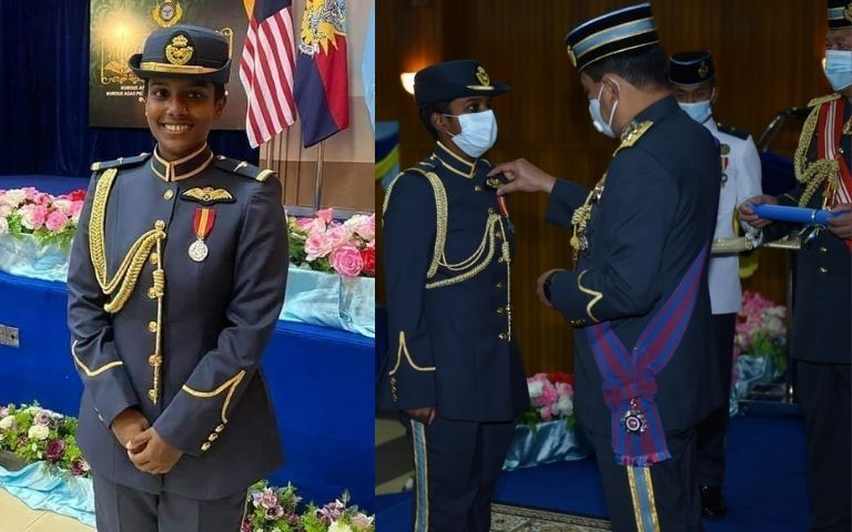 Meet-Malaysia-s-First-Indian-Female-RMAF-Pilot