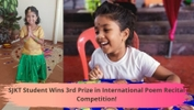 Kaviyashree, 7, Wins Third Prize In Global Poem Recital Competition!