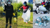 Duo Embark On A Mission To Clean-Up Littered Face Masks, Go Viral!