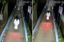 [VIDEO] CCTV Footage Showing A 'Pontianak' Hitching A Ride On Motorcycle Spooks Netizens