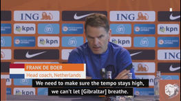Bullish De Boer demanding 'at least five goals' against Gibraltar