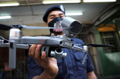 The Police Have Found A Way To Monitor Residential Areas During Hari Raya: High Tech Drones!