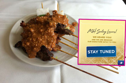 You Will Soon Get To Order Malaysia Airlines' Signature Satay And Have It Delivered To You