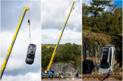 Volvo Drops Cars From 30 Metres To Save Lives. Seriously.