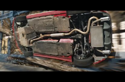 They Really Smashed A Toyota GT86 Through A Shop In The Latest Fast 9 Trailer