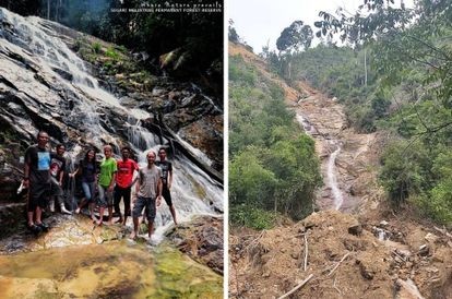 Before And After Pictures Of This Waterfall In Perak Are Shocking, NGO Wants Quarrying To Stop