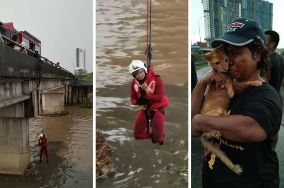 brave-abang-bomba-goes-to-great-lengths-to-save-cat-from-drowning-in-puchong-river