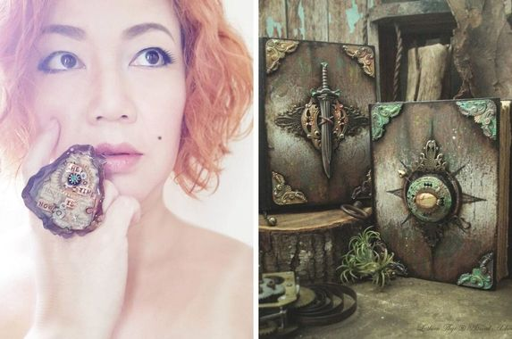 m-sian-artist-makes-unique-journals-jewellery-from-rusted-nails-clock-gears-and-other-knickknacks