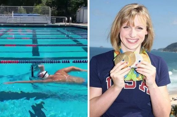 us-swimming-legend-impresses-netizens-after-swimming-with-full-glass-of-milk-balanced-on-head