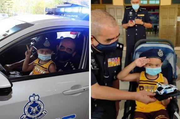 the-cutest-cop-police-fulfil-wish-of-6-year-old-leukemia-patient