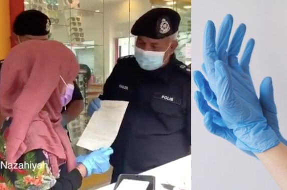 video-netizens-fuming-as-policeman-says-woman-breached-sop-for-not-wearing-gloves