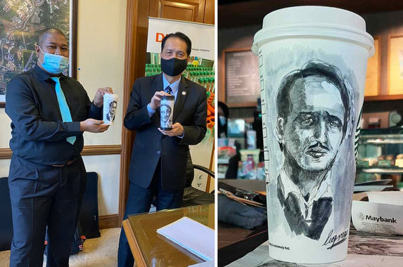 autistic-local-artist-who-drew-health-dg-s-portrait-on-starbucks-cup-finally-gets-to-meet-his-hero