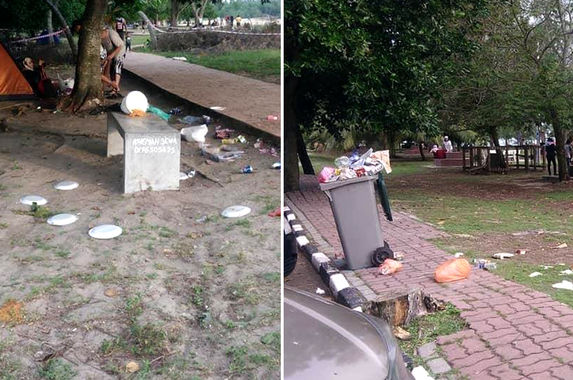 dirty-malaysians-visitors-thronging-port-dickson-beach-leave-behind-trails-of-rubbish