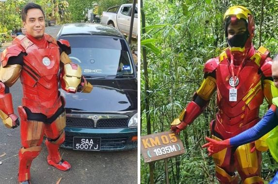 man-dons-iron-man-suit-while-climbing-mount-kinabalu-for-a-very-sweet-cause