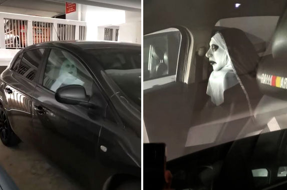 singaporean-uses-valak-the-nun-car-seat-cushion-and-it-s-actually-pretty-creepy