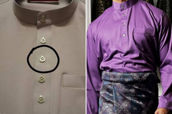 baju-melayu-buttons-with-pdrm-logo-cannot-be-sold-online