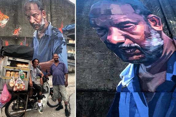 street-artist-shows-love-for-hardworking-bread-man-by-painting-a-mural-of-him-in-penang