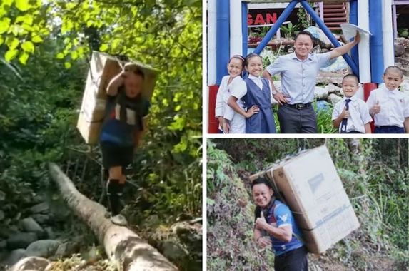 sabah-teacher-crosses-jungle-wades-through-stream-with-fridge-on-his-back-for-his-students