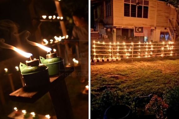 ingenious-villager-puts-up-hari-raya-oil-lamps-to-spell-covid-19