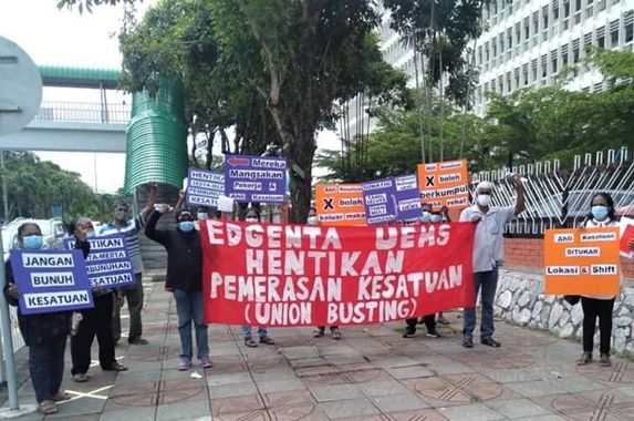 five-frontliners-and-activists-were-arrested-in-ipoh-following-a-peaceful-protest-against-employers