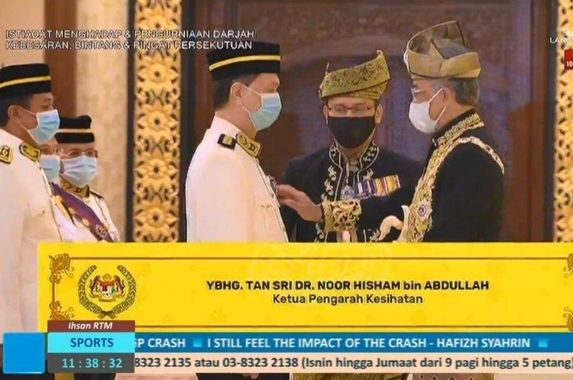 the-king-awarded-health-dg-dr-noor-hisham-tan-sri-title-for-his-contribution-towards-the-country