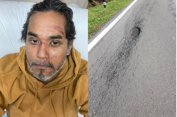 minister-khairy-jamaluddin-hits-a-pothole-and-lands-in-a-ditch-pwd-apologises