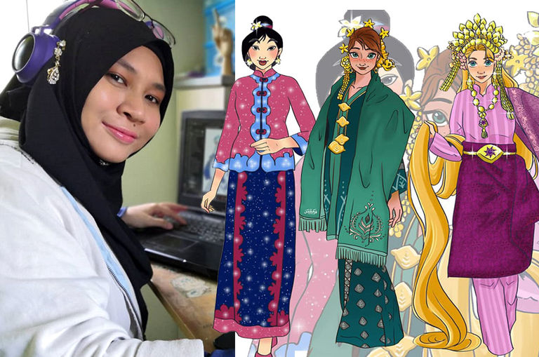 malaysian-artist-swaps-disney-princesses-flowy-gowns-with-beautiful-local-traditional-costumes