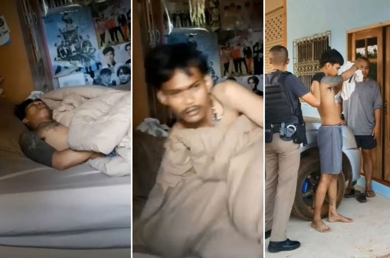 thai-burglar-takes-a-nap-in-the-house-he-was-robbing-finds-out-later-the-owner-is-a-cop