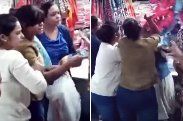 indian-woman-who-s-obviously-an-aunty-slaps-teenager-for-calling-her-aunty-at-a-market