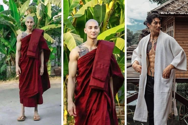 That Hot Monk Who's Been Popping Up On Your Feed Is Actually A Famous Myanmar Model