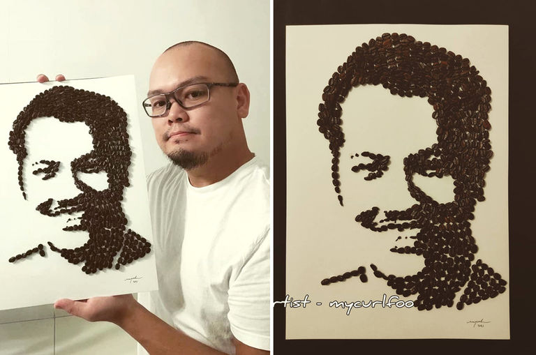 this-penang-artist-pays-tribute-to-legend-p-ramlee-by-creating-an-artwork-using-620-coffee-beans