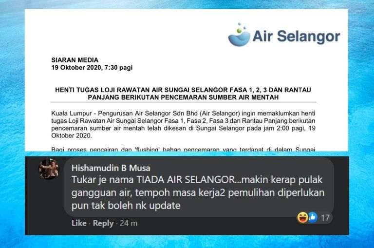 malaysians-cope-with-latest-air-selangor-water-cut-with-sarcasm-and-humour-as-always