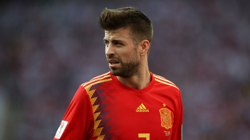 Gerard Pique retires from Spanish international team
