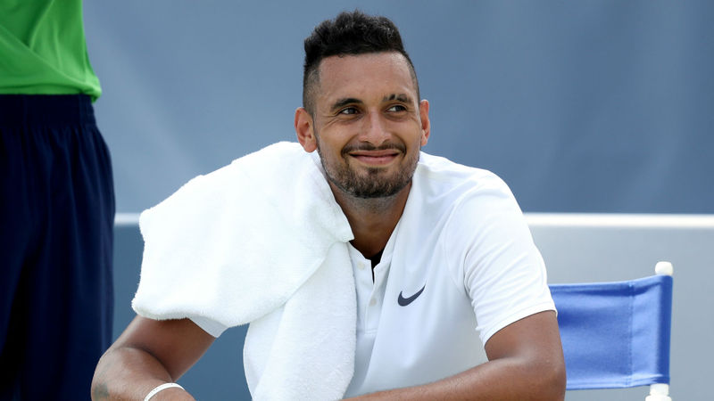 Kyrgios forgets tennis shoes, Federer back in business