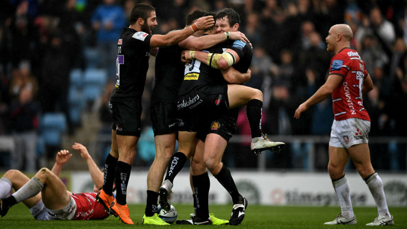 Chiefs stay perfect, Wasps hold on despite Thacker hat-trick
