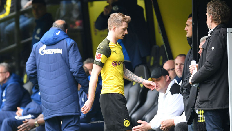 Dortmund captain Reus sorry for Revierderby red