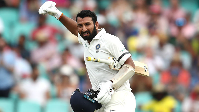 Pujara puts India on top again