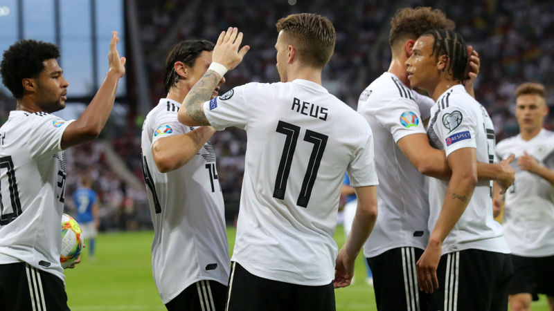 Germany 8 Estonia 0: Reus, Gnabry lead with doubles in crushing win