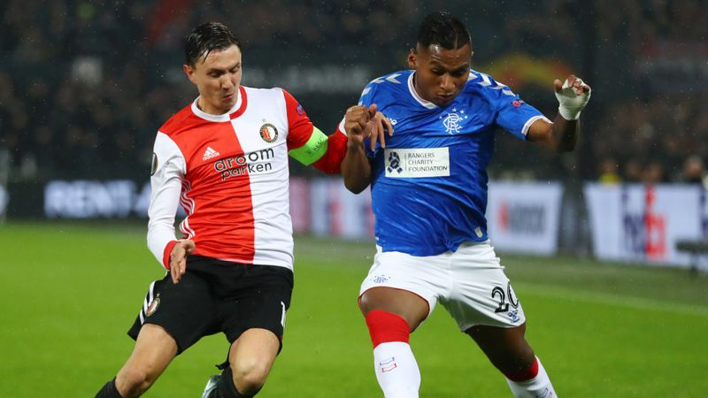 Feyenoord 2-2 Rangers: Morelos makes history but Gerrard's men a point away