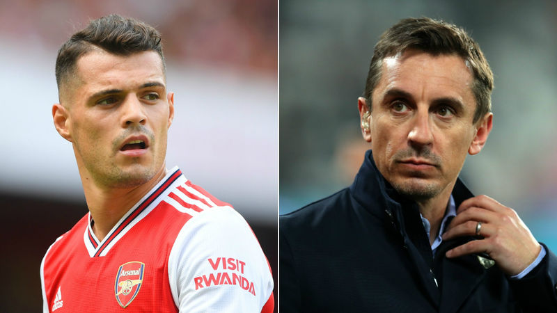 Neville: Arsenal midfielder Xhaka must make peace with fan abuse