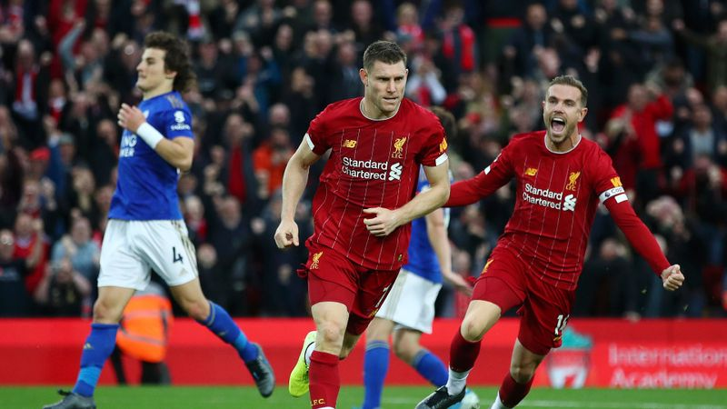 Liverpool 2-1 Leicester City: Last-gasp Milner penalty maintains Reds' winning run