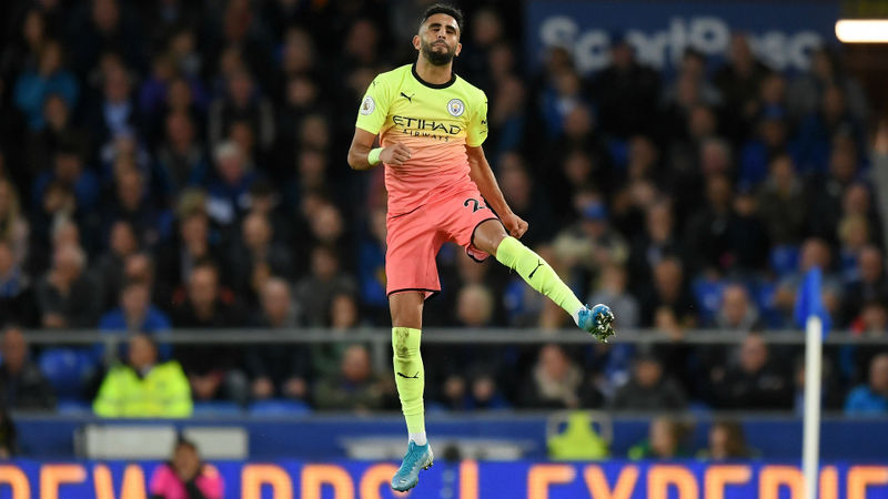 Everton 1-3 Manchester City: Mahrez stunner saves champions