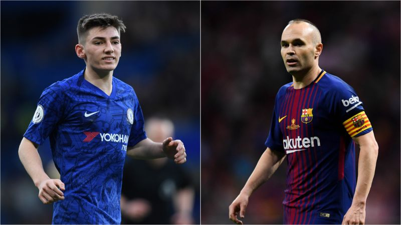 Chelsea youngster Billy Gilmour inspired by Xavi and Iniesta