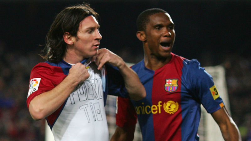 Messi's legacy 'impossible to surpass' says ex-Barca team-mate Eto'o