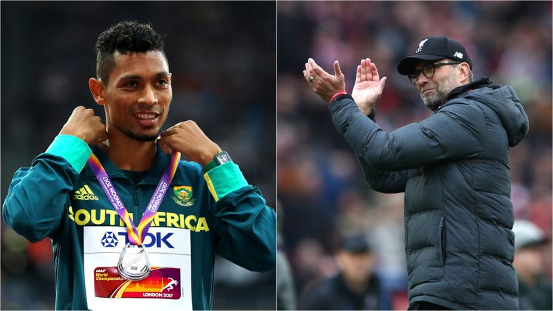 Wayde van Niekerk inspired by Liverpool as athletics star hopes football season is concluded
