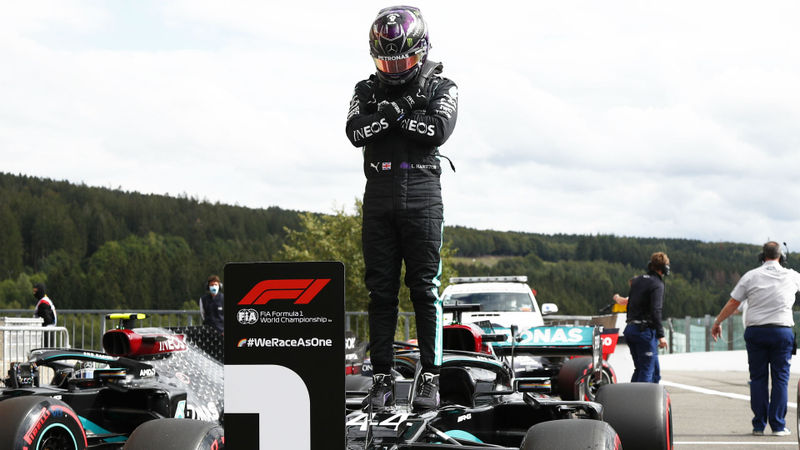 F1 2020: Hamilton storms to Spa pole as Mercedes lock out front row