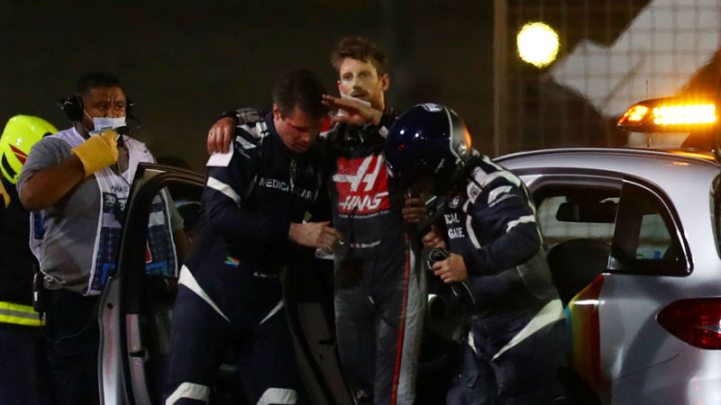 Grosjean discharged from hospital three days after frightening crash