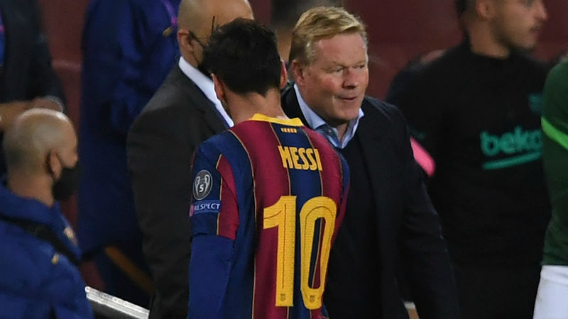 Koeman: Messi future does not depend on Pochettino at PSG