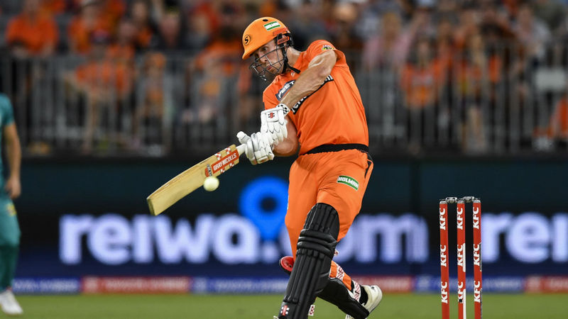 Marsh's brilliant best T20 knock sees Scorchers past Heat