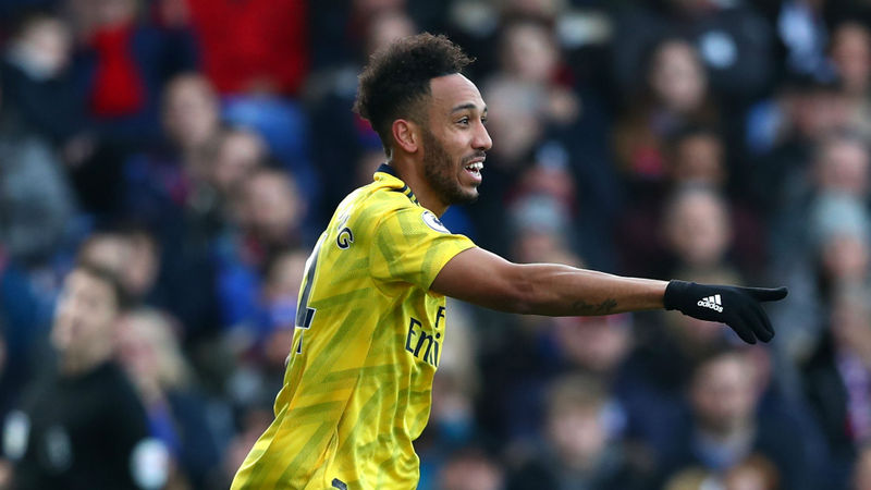 Crystal Palace 1-1 Arsenal: Aubameyang scores and sees red